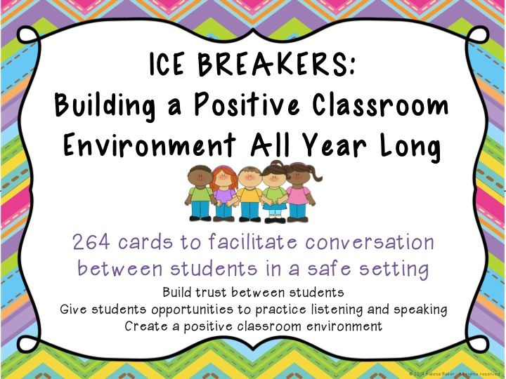 Team Builder questions for all year long! Help build a positive classroom environment and sustain it all year! $