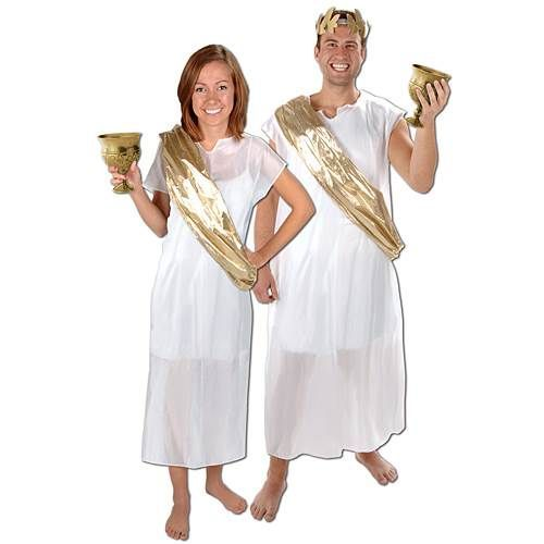 Our Toga Set is perfect for a Greek, Roman or Italian themed event, a Halloween party, Olympic party and more! Each Toga party costume set…