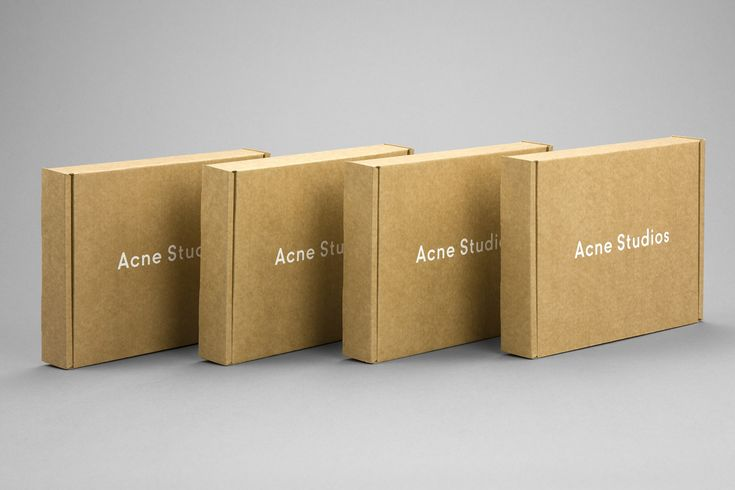 Acne Studios, outer box. Screen print on brown cardboard.