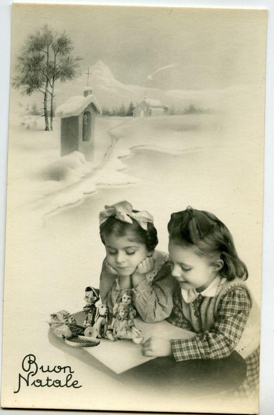 Buon Natale (cartolina) Happy Christmas (postcard) vintage