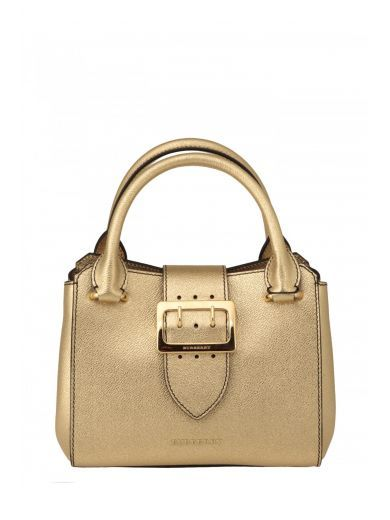 BURBERRY Burberry Borsa In Pelle Metallizzata. #burberry #bags #shoulder bags #hand bags #