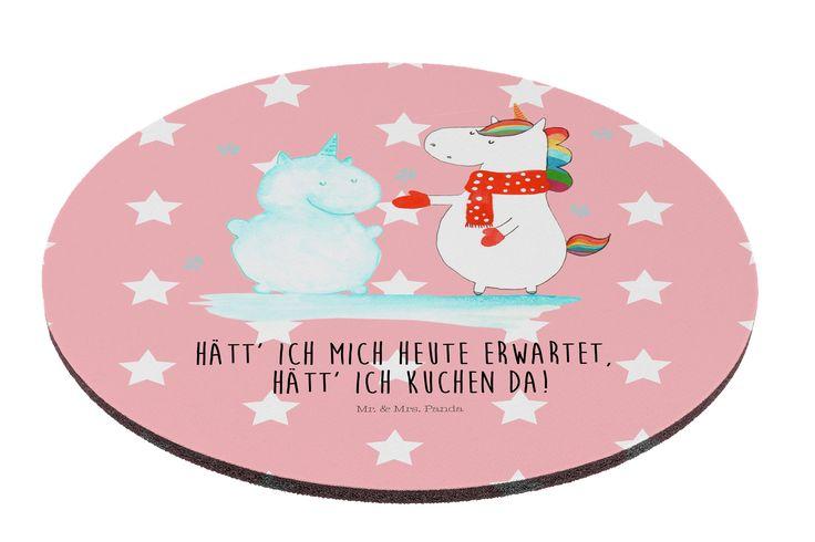 Mauspad rund Einhorn Schneemann aus Naturkautschuk  black - Das Original von Mr. & Mrs. Panda.  Ein wunderschönes rundes Mouse Pad der Marke Mr. & Mrs. Panda. Alle Motive werden liebevoll gestaltet und in unserer Manufaktur in Norddeutschland per Hand auf die Mouse Pads aufgebracht.    Über unser Motiv Einhorn Schneemann  Das Winter-Einhorn macht richtig Lust auf den ersten Schnee. Schon mal probiert, sich ein Ebenbild aus Schnee zu bauen? Dann wird es aber Zeit. Aber nicht den Kuchen für…