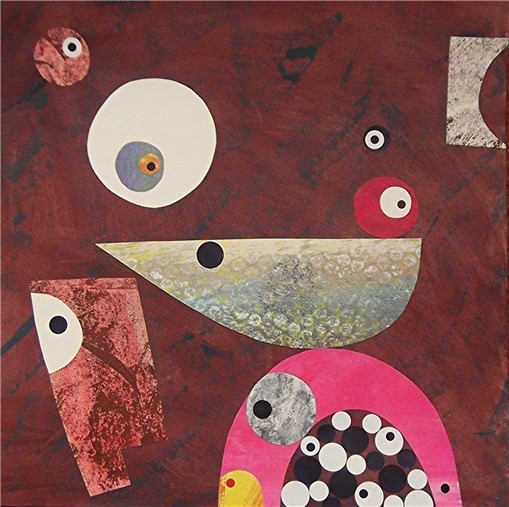 wall pop art designer abstract collage painting unusual mid century