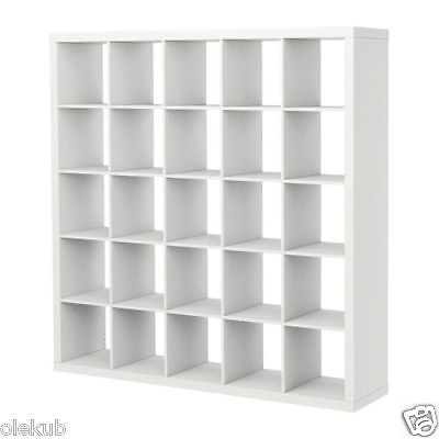 IKEA Kallax 5 x 5 Bookshelf Storage Shelving Unit Bookcase WHITE NEW Rep Expedit in Home & Garden,Furniture,Bookcases | eBay