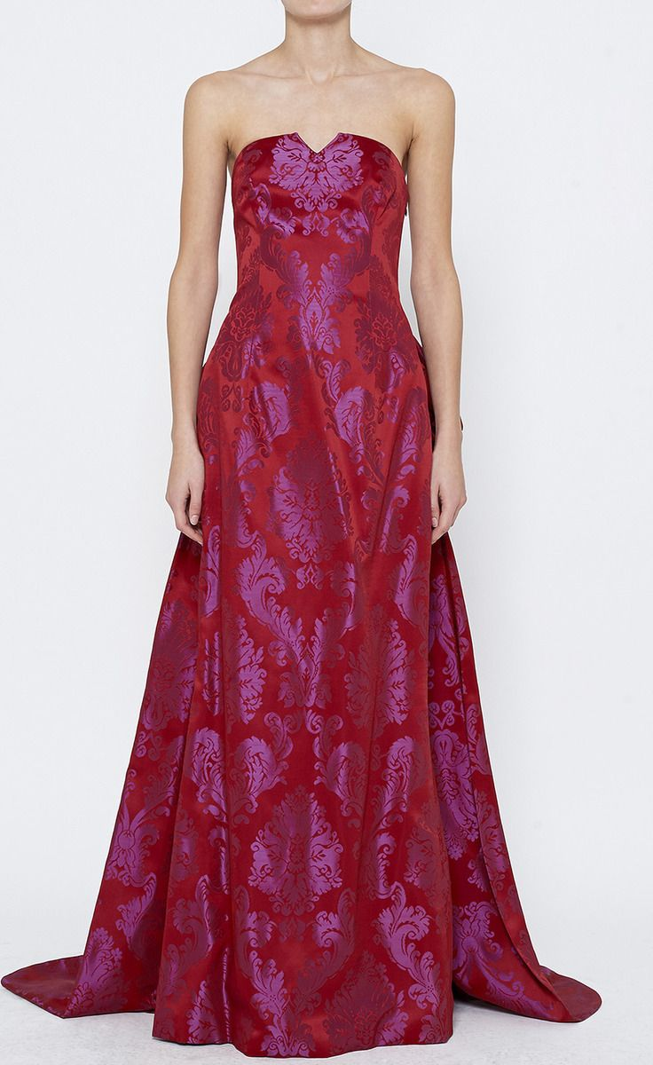 Escada Couture Red And Purple Dress