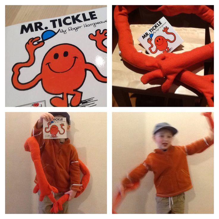 My own DIY book week costume: Mr Tickle