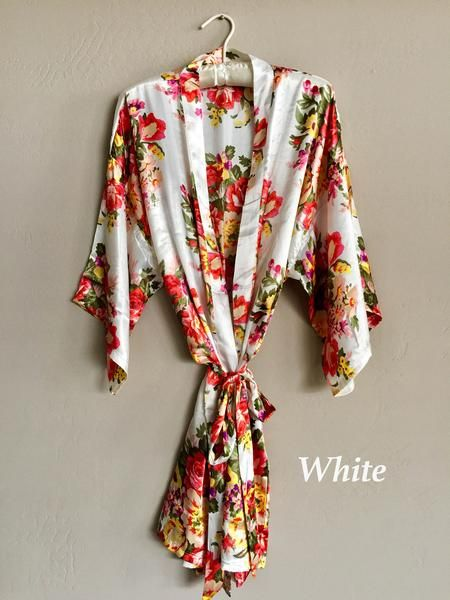 Kimono Robes are our specialty. For our bridal customers, these robes are very practical. They make an excellent, long lasting gift for your bridesmaids and can also double up as a beautiful enhanceme