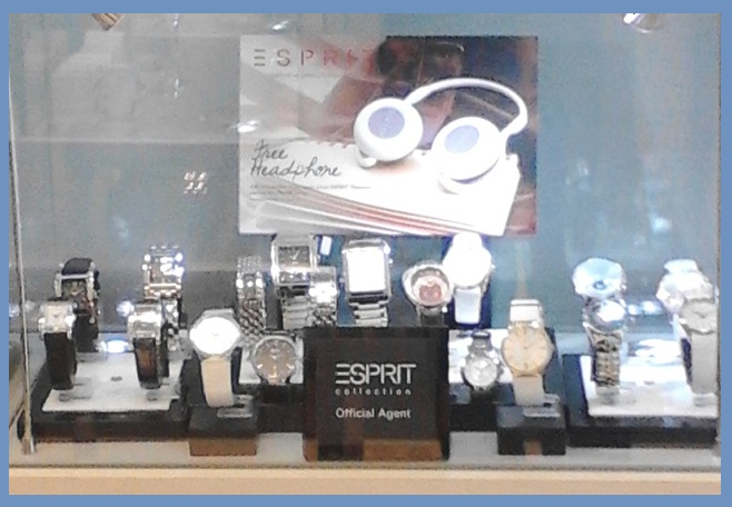 Esprit Watch Collection Display