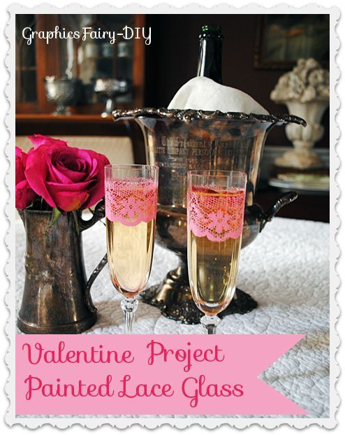I picked up some cheap Champagne Flutes from Goodwill, and added this pretty lace pattern, to make them extra special for Valentine's Day! You can find the full…