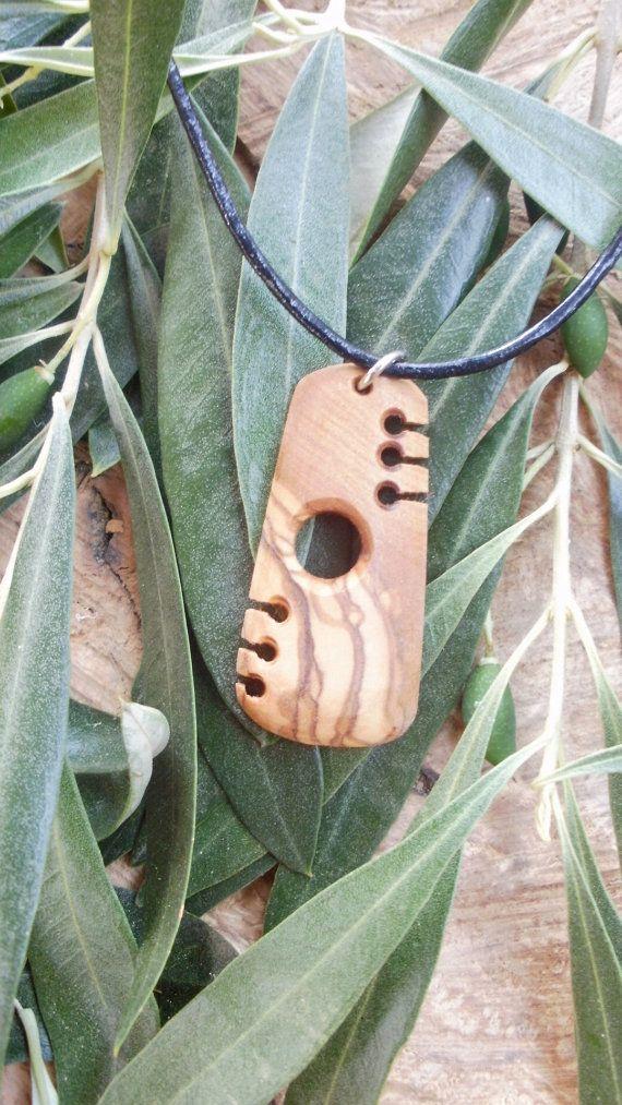 Olive Wood Maori style necklace designed and by ellenisworkshop, $29.00