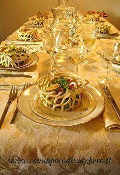 Cestini croccanti di insalata affumicata