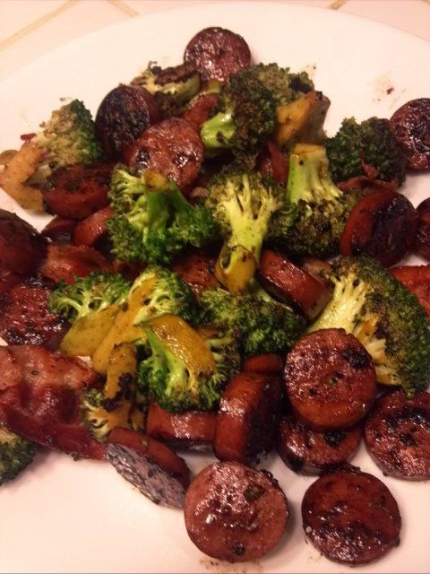 Polish Sausage with Bacon and Broccoli | Grace2882