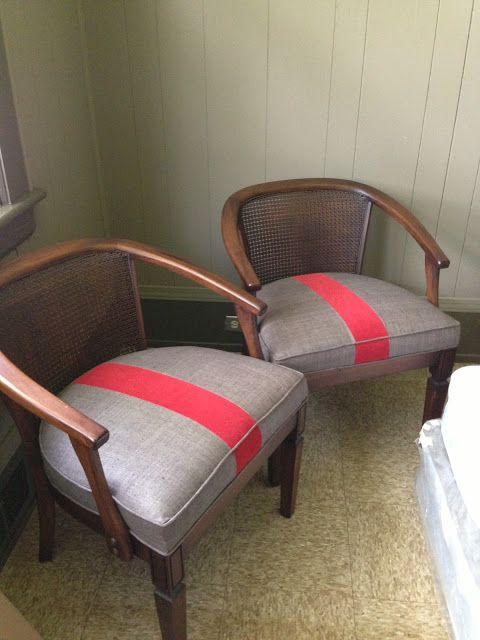 drd: dayka robinson designs: BEFORE & AFTER: VINTAGE BARREL-BACK CANE CHAIRS REUPHOLSTERED