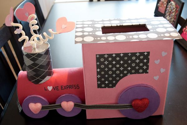 Love Express DIY Valentine Card Box! See more creative Valentine ideas on www.prettymyparty.com.