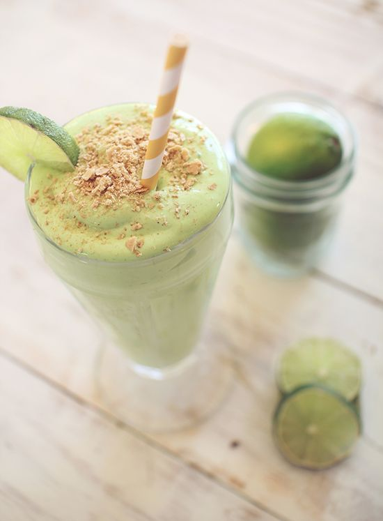 Key Lime Pie Protein Shake! Love this healthy and delicious shake! We switched out the cottage cheese with yogurt.