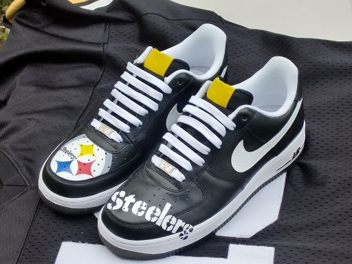 e74f357f7c11b5 ... Pittsburgh Steelers Custom Shoes Nike Air Force Vans and ...