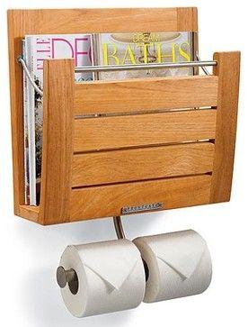 Brown Wall Mount Magazine Rack - Contemporary - Magazine Racks ...