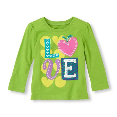 A cute new tee for the girl full of love!