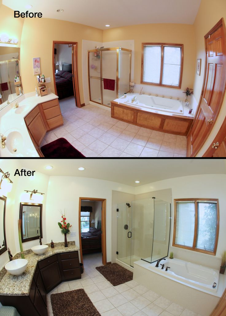 Beautiful Large Master Bathroom Remodel Before And After