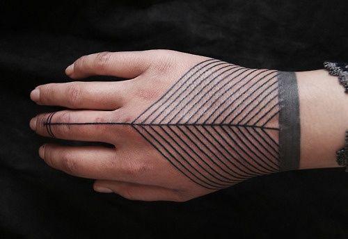 Geometric tattoo, via Modern Hepburn