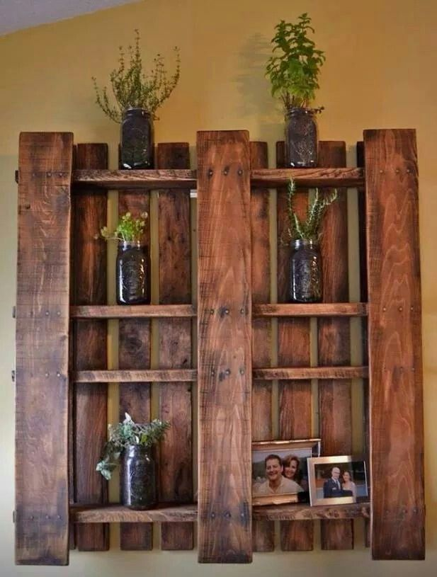 Pallet Board Shelf Just Pull A Few Boards Out And Stain It Home Crafts Pallet Crafts Diy