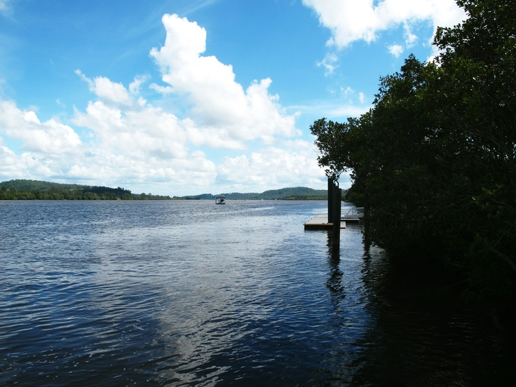 The Clarence River view from Harwood Island, looking towards Maclean.