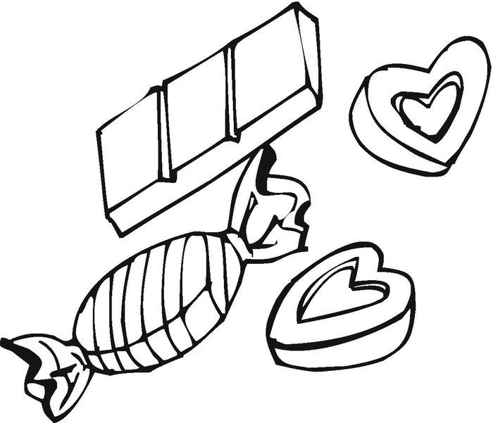 Candy Bar Coloring Pages From Candy Coloring Page You Will Be