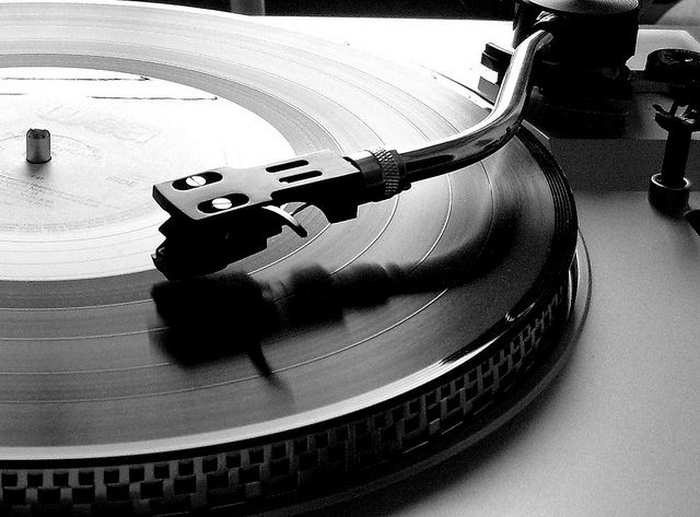 Vinyl, the stuff that music is made out of--or at least it was!   :)
