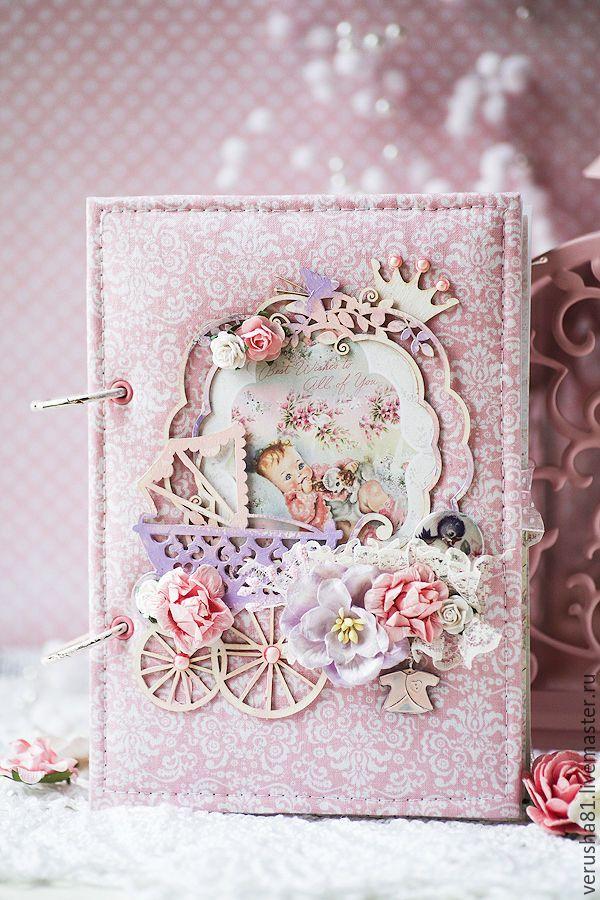 """Купить Мамин дневник """"Моя малышка"""" - бледно-розовый, мамин дневник, мамины сокровища"""