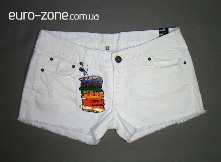 Шорты джинсовые белые женские