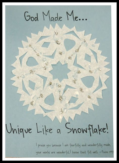 Isn't it amazing that no two snowflakes are exactly alike!?! (It's hard for me be to believe considering how much snow we get in a given win...