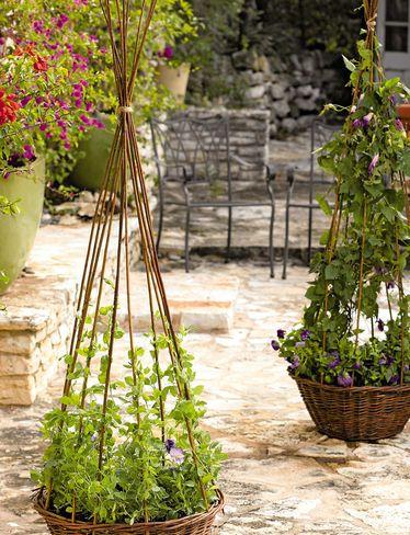 Willow Obelisk Planter - diy'ing this!!! More