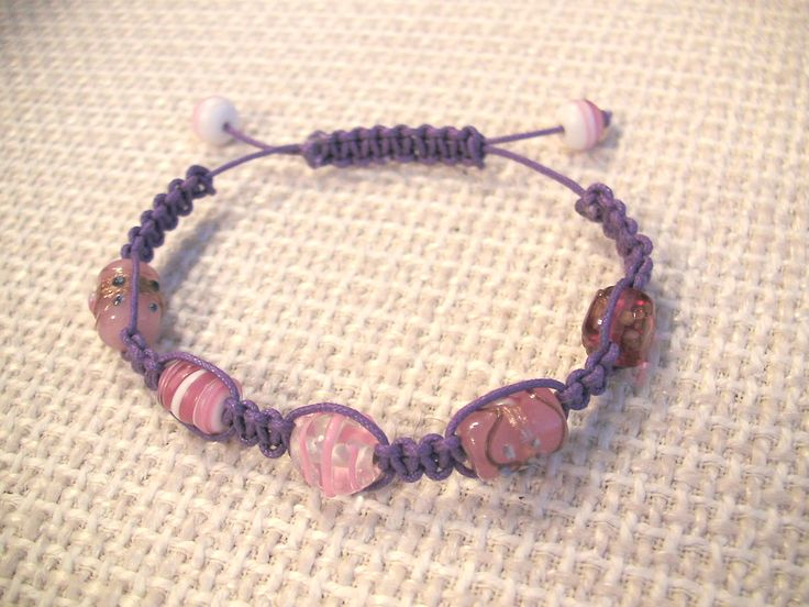 Can't believe I've never made a shamballa bracelet before! Although I did a plant pot holder in macrame once as a kid! It takes me back to the early days of my crafting when at age 12 I used to make friendship bracelets and sell them to other kids! Nice little earner - if only I could make this hobby pay enough, I'd be made! :)