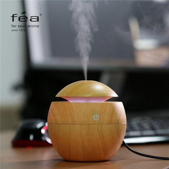 ВЭД Эфирное Масло Диффузор 130 МЛ LED Ультразвуковой Холодный Туман Аромат Увлажнитель Воздуха USB Очиститель Воздуха для Office для Дома Спальня гостиная