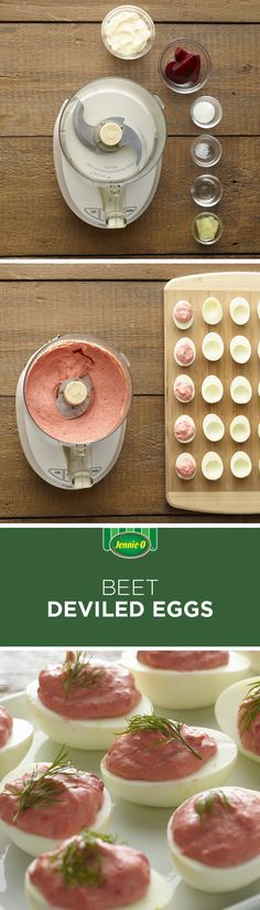Who knew beets were so good in deviled eggs?! Make them this Easter! | Easter Brunch | Deviled Eggs | Beets Side Dishes | Entertaining