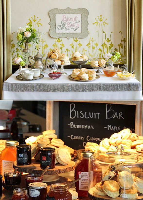 What's better than biscuits? Guests will delight in these baked treats accompanied by a choice of delicious spreads. Buffet, Wedding Catering, Food Bar, Party Food Ideas