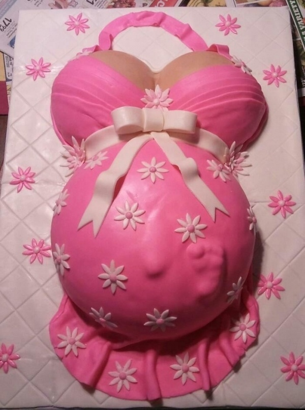 Pregnant Belly Cake. I LIKE this one! LOL