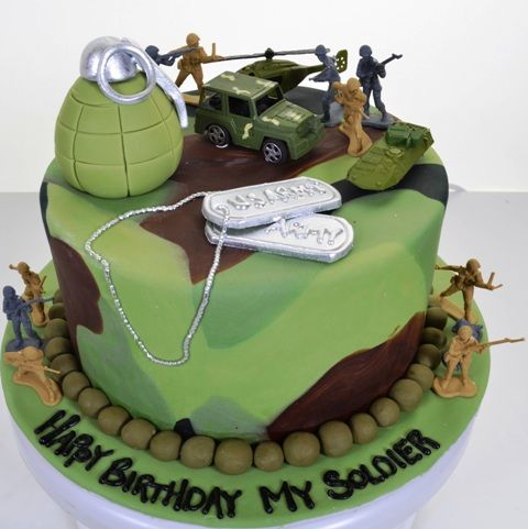 ... Military Cake on Pinterest  Army cake, Military cupcakes and Army