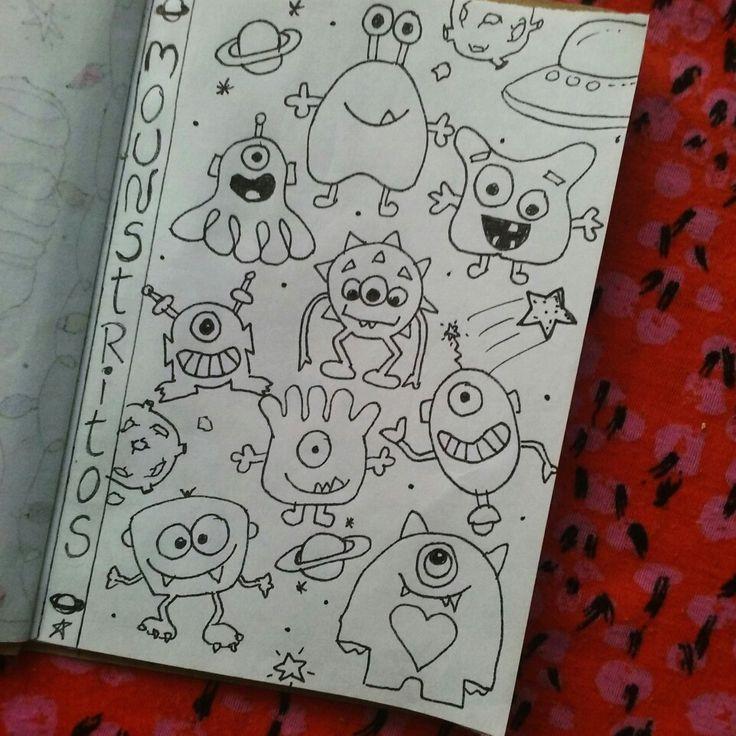 Doodles monstruitos // monstruos tiernos