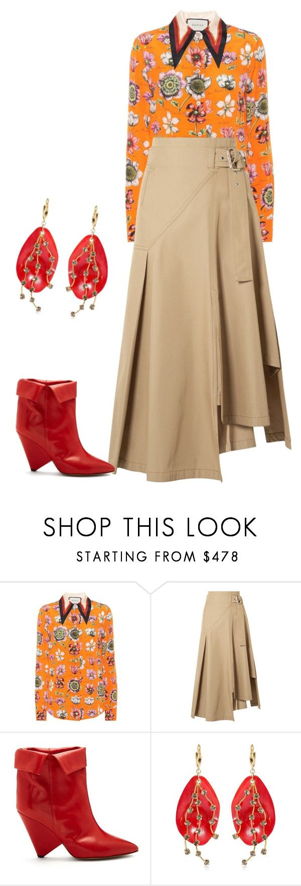 """""""tonos calidos"""" by valentina354 ❤ liked on Polyvore featuring Gucci, 3.1 Phillip Lim, Isabel Marant and Marni"""