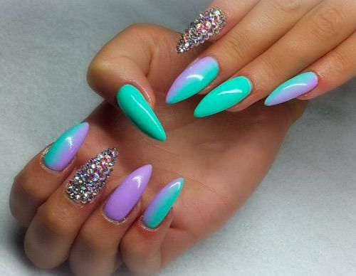 I don't really like sharp nails.but I love the colors - Best 25+ Sharp Nails Ideas On Pinterest Matte Stiletto Nails