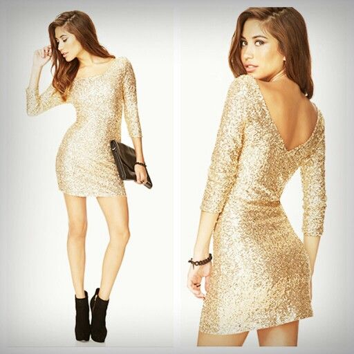 Shining Shimmering Gold Dress Forever21 Satohmee S