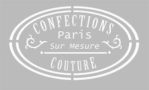 Pochoir Adhésif 30 x 20 cm PUB COUTURE CONFECTIONS