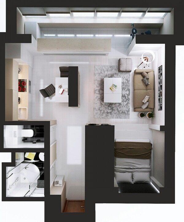 M s de 20 ideas incre bles sobre planos de departamentos for Distribucion apartamentos pequenos