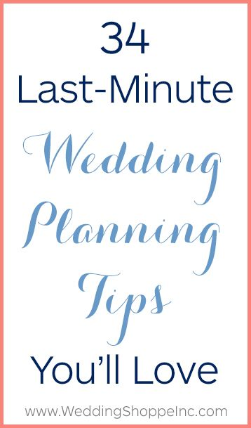 last minute wedding checklist pdf