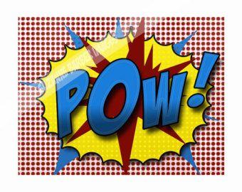 Pop Art Print POW in the comic strip superhero by TheBarberShoppe