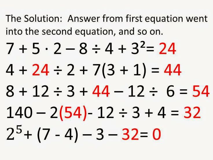 55 best Order of Operations images on Pinterest Teaching math - order of operations worksheet