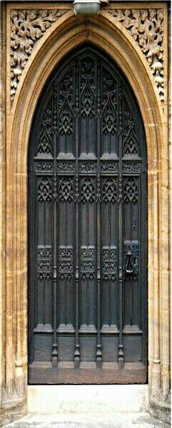 Black Gothic church door.