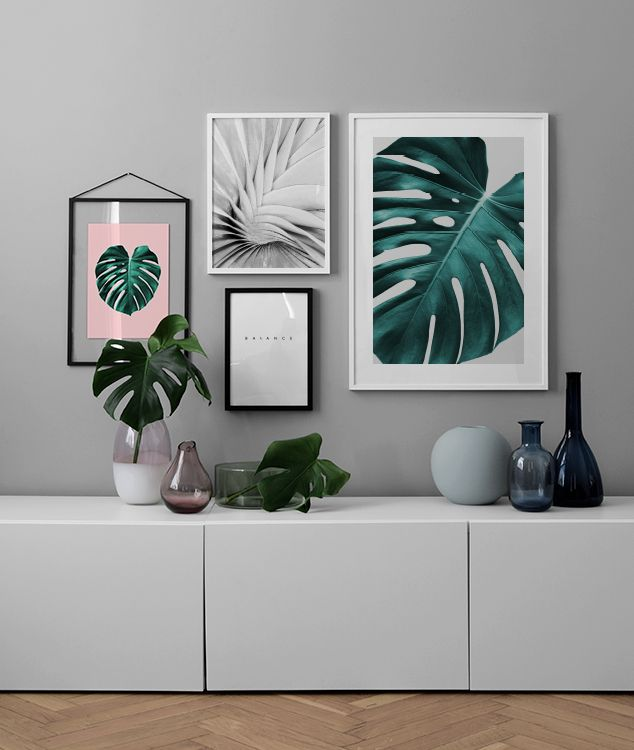 Inspiration for entry hall | Collages and gallery wall | Buy posters online