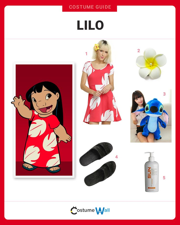 The best complete guide to cosplay the look of Lilo, the Polynesian girl from Hawaii starring in the animated Disney movie Lilo and Stitch.